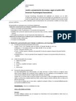 Guía para la elaboración y presentación de ensayo APA