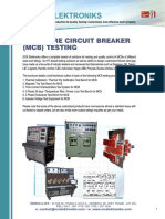 Miniature Circuit Breaker IEC 60898 is 8828 Test Bench