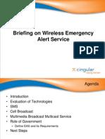 Cingular - Briefing on Wireless Emergency Alerting Systems 5-30-06