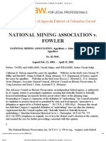 National Mining Association v Fowler No 02-5041