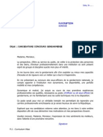 Lettre de Motivation Gendarmerie