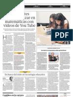 Estudiantes pueden avanzar en matemáticas con videos de You Tube