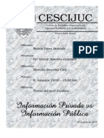 Dcho Informacion vs Dcho Privacidad