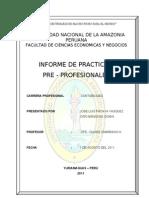 Informe de Practicas Contables