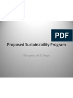 Proposed Sustainability Program for Marymount College