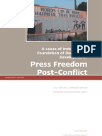 2007 - IMS - Press Freedom Post-Conflict