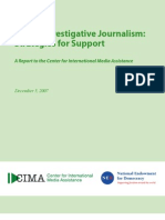 CIMA - Investigative Journalism Report