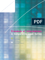 Comparative Legal Survey of RTI - Unesco 2008