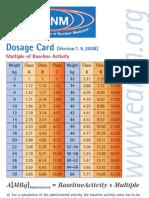 Dosage Card