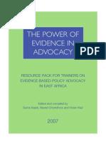 ESRF - Power Of Evidence In Advocacy - 2007