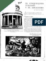 El Cinquecento Italiano y El Idealismo - Giulio Carlo ARGAN