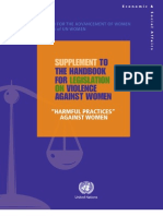 Supplement-To-Handbook-English Harmful Practice Against Women