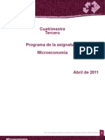 microeconomia. Tercer Cuatrimestre. UNAD