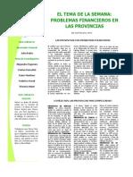 Tema de La Semana - Problemas Financieros de Provincias