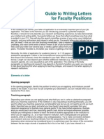 Writing Letters for Faculty Jobs
