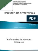Registro de Referencias