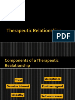 Therapeutic Relationships