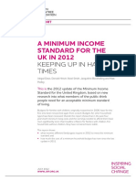 Joesph Rowntree Foundation report