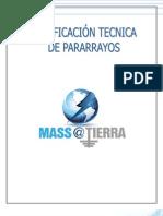 Justificación Técnica Pararrayos MASS@TIERRA 2012
