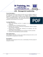 139 - Managerial Leadership