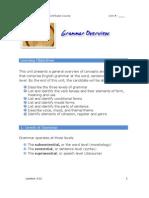 Grammar Overview PDF 2011