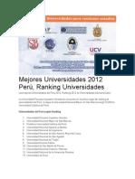 Mejores Universidades 2012 Perú