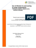 Participation of Women in Rural SavingParticipation of Women in rural saving and credit cooperatives