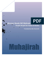 Women Need NO Mahram for Hijrah