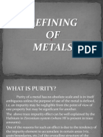 Refining of metals introduction
