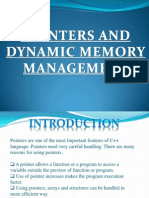 Pointers and Dynamic Memory Management