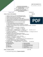 PGDM 201 - Quantitative Techniques - II