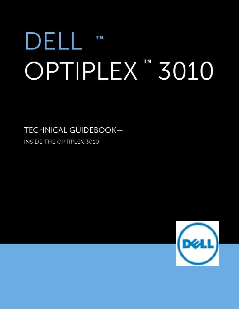 Optiplex 3010 Technical Guidebook