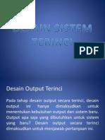 Desain Sistem Terinci