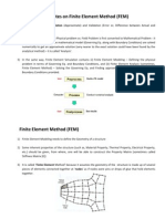 A Few Notes on Finite Element Method