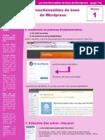 Les Fonctionnalites Basiques de Wordpress