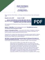 HL Restructuring & Condonation RA 9507