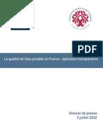 DP opération transparence_qualité eau_francelibertes_3jlt2012