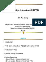 HFSS Filter Design