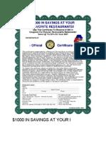 Restaurant Certificate Pdffiller