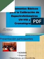 CALIBRACIÓN DE CROMATOGRAFÍA Y ESPECTOFOTOMETRÍA