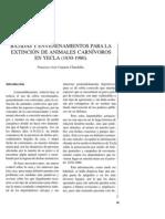 Batidas y envenenamientos para la extinción de animales carnívoros en Yecla (1830-1980).