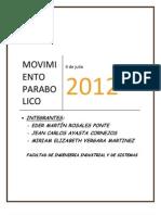 Movimiento Parabolico - Mecánica.docx