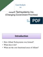 Alliant Tech System Business Environment