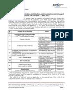 Revised Fees Fpsb