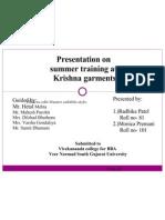 Summer Training Presentation
