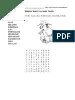 Paddington Crossword Puzzle