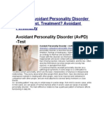What is Avoidant Personality Disorder (AvPD) Test, Treatment? Avoidant Personality