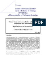 Aviso de Convocatoria Administrador SAP Senior Basis