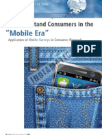 "To Understand Consumers in the ""Mobile Era"""