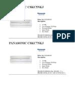 Katalog AC Panasonic 2012